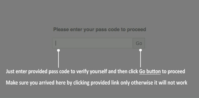 Verify Pass Code Help